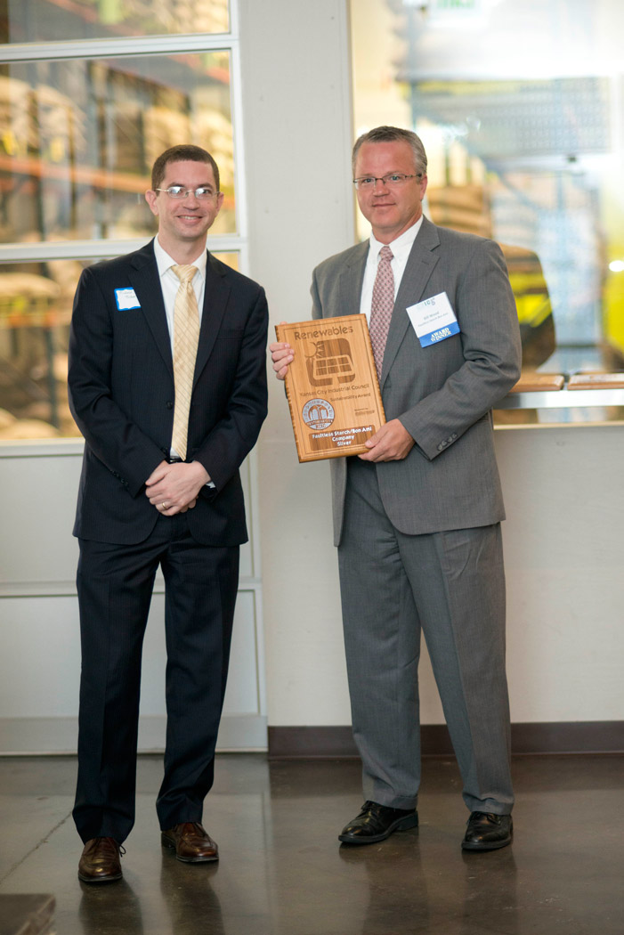 Bill Wood Accepting Faultless Starch Sustainability Award